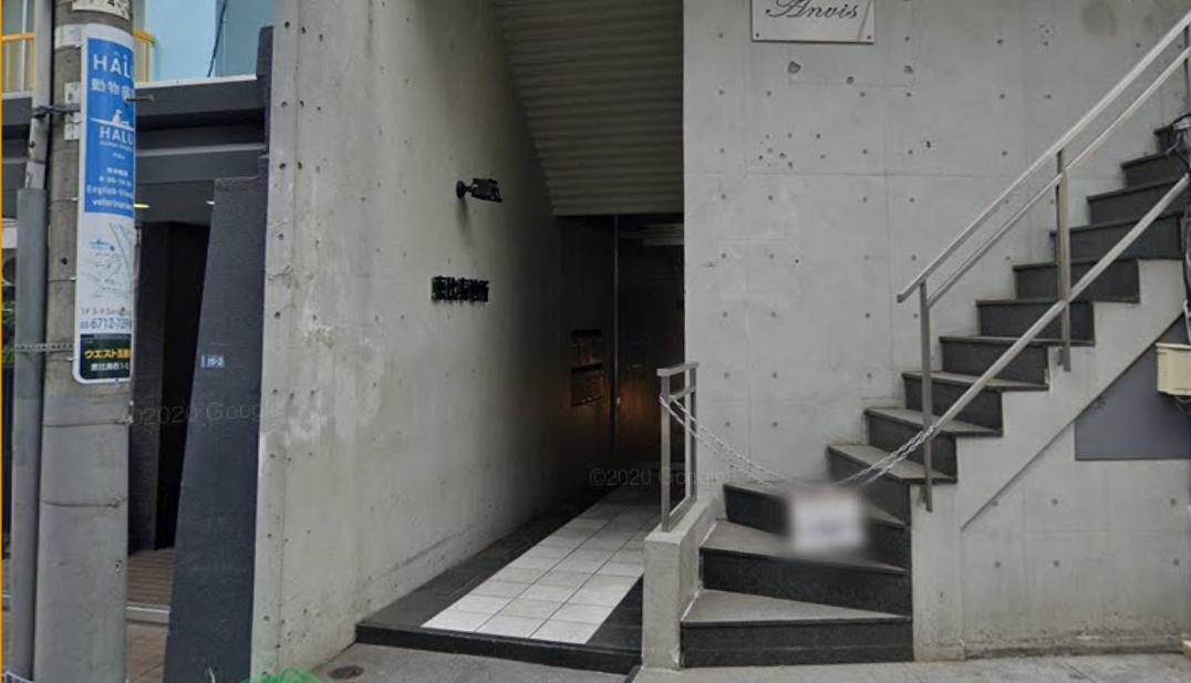 恵比寿ラウンジ「ベロア」の玄関正面